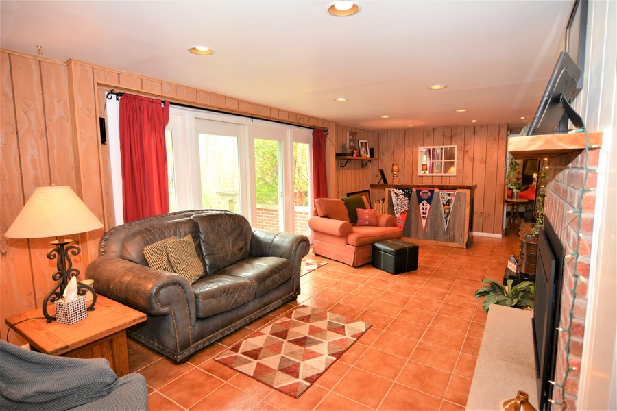 Real Estate Photography - 24740 W. Miller Road, Barrington, IL, 60010 - Lower Level Walkout Rec Room with Bar area