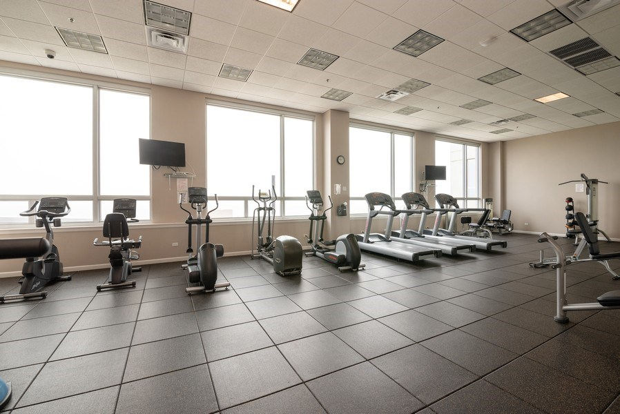 Real Estate Photography - 1841 S. Calumet Avenue, Unit 807, Chicago, IL, 60616 - Exercise Room