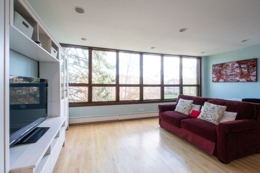 Real Estate Photography - 2726 Central Street, Unit 3A, Evanston, IL, 60201 - Living Room