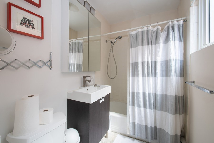 Real Estate Photography - 2726 Central Street, Unit 3A, Evanston, IL, 60201 - Master Bathroom