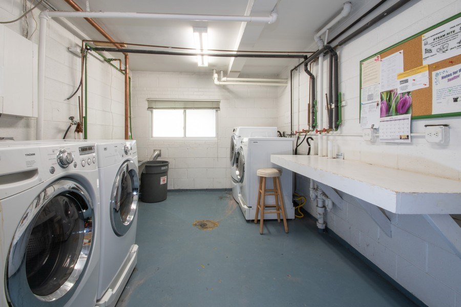 Real Estate Photography - 2726 Central Street, Unit 3A, Evanston, IL, 60201 - Laundry Room