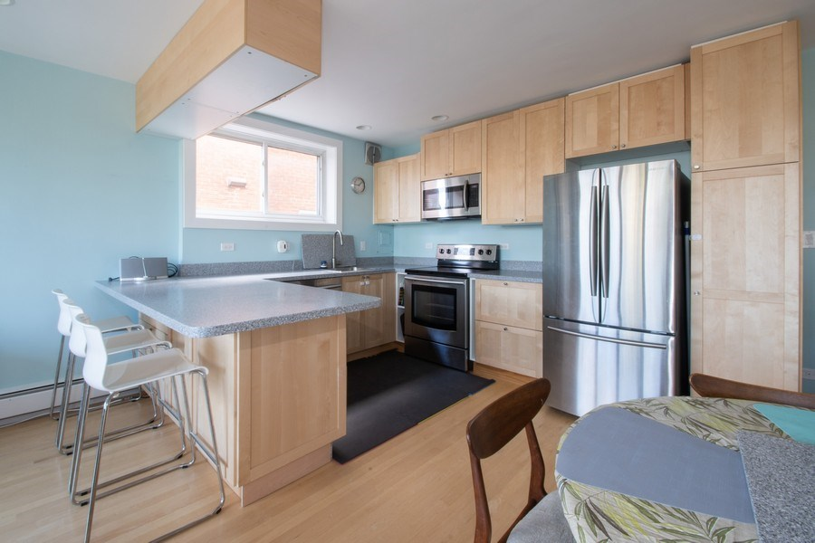 Real Estate Photography - 2726 Central Street, Unit 3A, Evanston, IL, 60201 - Kitchen / Dining Room