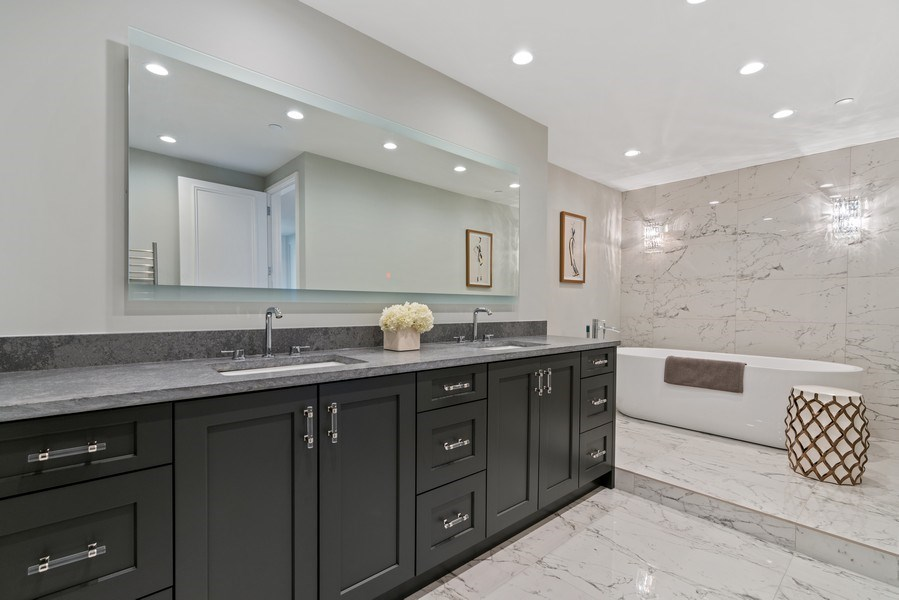 Real Estate Photography - 180 E. Pearson Street, Unit 6602, Chicago, IL, 60611 - Master Bathroom