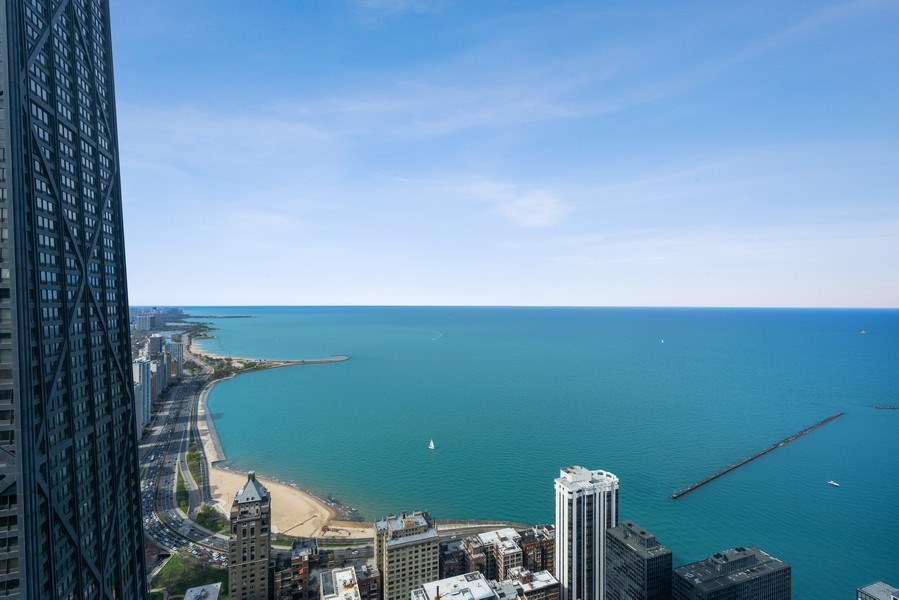 Real Estate Photography - 180 E. Pearson Street, Unit 6602, Chicago, IL, 60611 - Oak Street Beach View