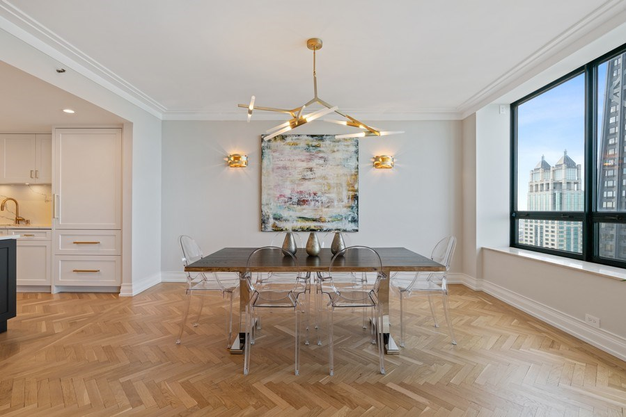 Real Estate Photography - 180 E. Pearson Street, Unit 6602, Chicago, IL, 60611 - Dining Room