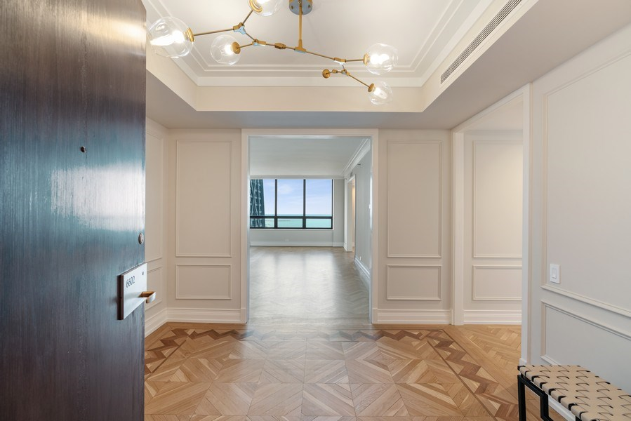 Real Estate Photography - 180 E. Pearson Street, Unit 6602, Chicago, IL, 60611 - Foyer