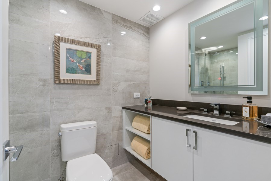 Real Estate Photography - 180 E. Pearson Street, Unit 6602, Chicago, IL, 60611 - 3rd Bathroom