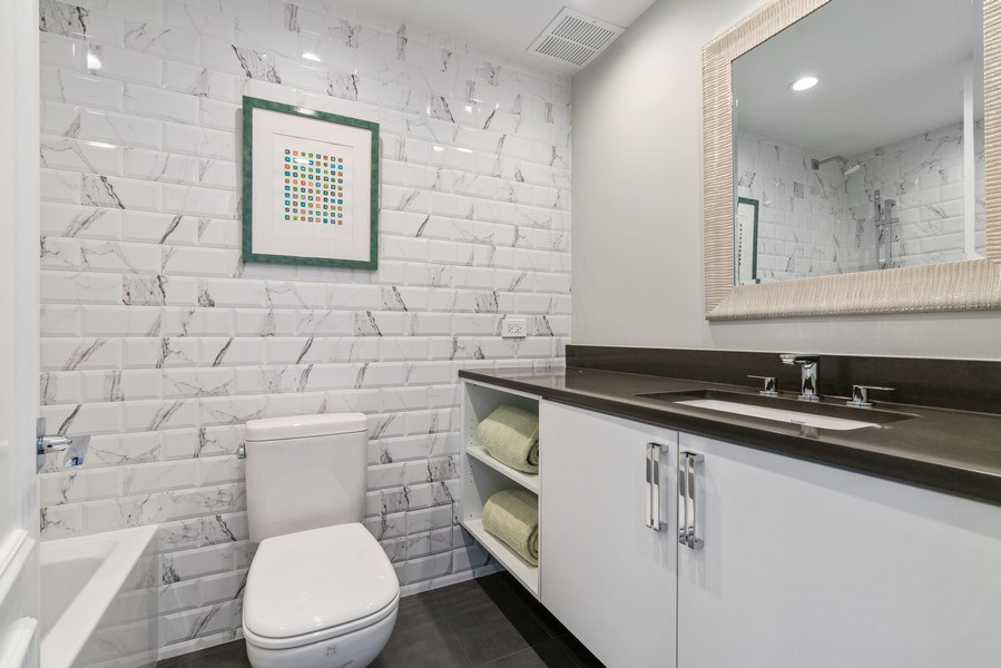 Real Estate Photography - 180 E. Pearson Street, Unit 6602, Chicago, IL, 60611 - 2nd Bathroom