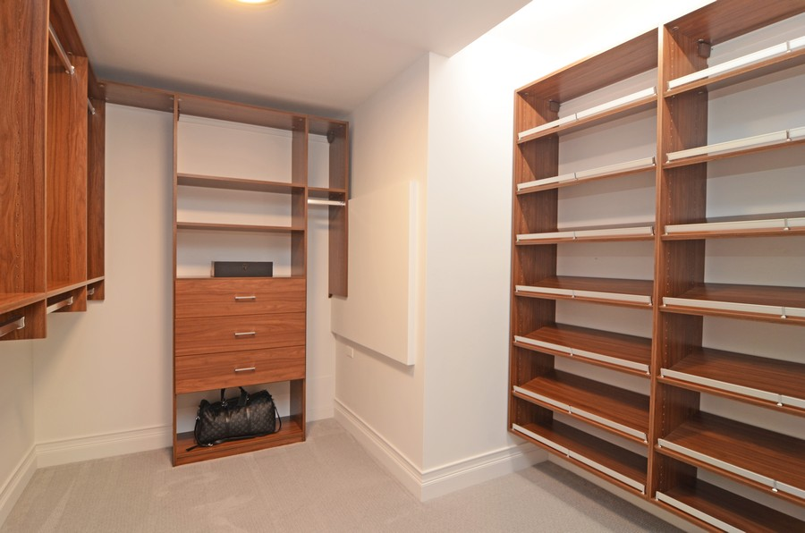 Real Estate Photography - 180 E. Pearson Street, Unit 6602, Chicago, IL, 60611 - Master Bedroom Closet #1