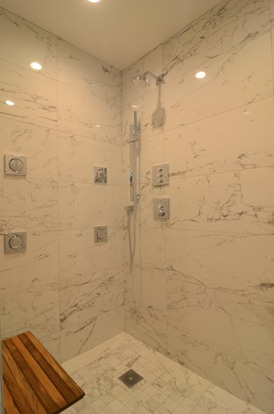Real Estate Photography - 180 E. Pearson Street, Unit 6602, Chicago, IL, 60611 - Master Bathroom Shower