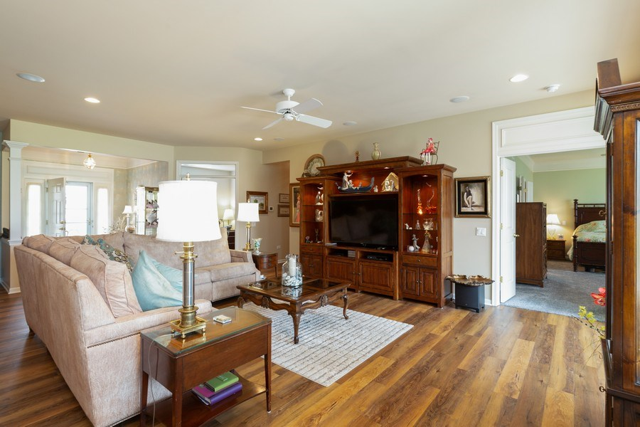 Real Estate Photography - 14082 Francesca Cove, Huntley, IL, 60142 - Living Room