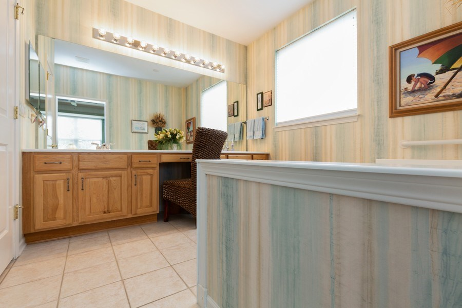 Real Estate Photography - 14082 Francesca Cove, Huntley, IL, 60142 - Master Bathroom