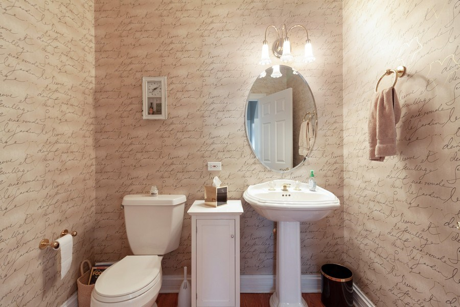 Real Estate Photography - 2S375 Canterbury Court, Glen Ellyn, IL, 60137 - Powder Room