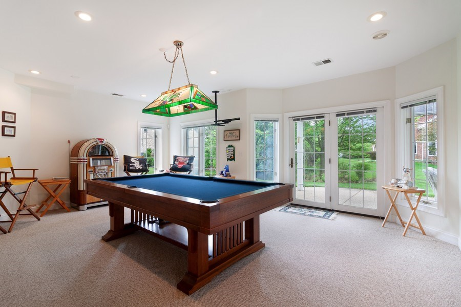 Real Estate Photography - 2S375 Canterbury Court, Glen Ellyn, IL, 60137 - Game Room