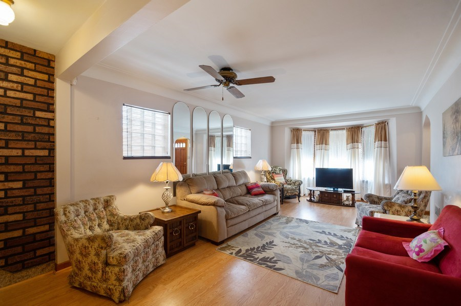 Real Estate Photography - 3619 North Nordica Ave, Chicago, IL, 60634 - Living Room