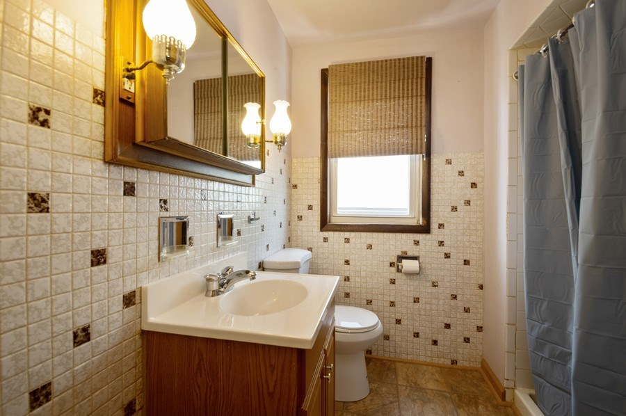 Real Estate Photography - 3619 North Nordica Ave, Chicago, IL, 60634 - 2nd Bathroom