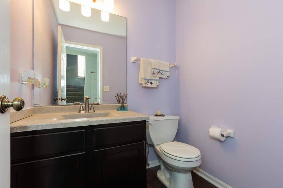 Real Estate Photography - 16706 W. Adobe Drive, Lockport, IL, 60441 - Powder Room
