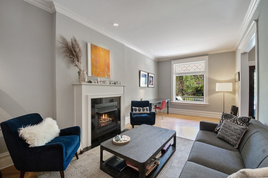 Real Estate Photography - 4220 N. Hermitage Avenue, Chicago, IL, 60613 - Living Room