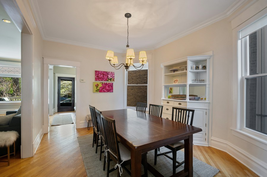 Real Estate Photography - 4220 N. Hermitage Avenue, Chicago, IL, 60613 - Foyer/Dining Room