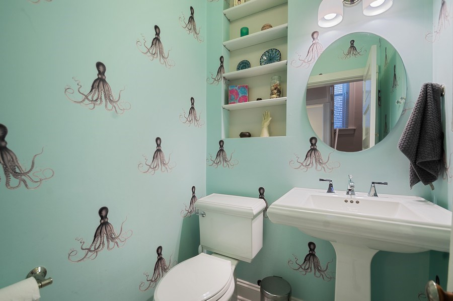 Real Estate Photography - 4220 N. Hermitage Avenue, Chicago, IL, 60613 - Powder Room