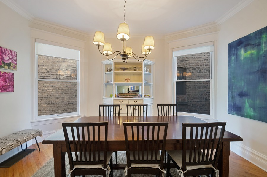 Real Estate Photography - 4220 N. Hermitage Avenue, Chicago, IL, 60613 - Dining Room