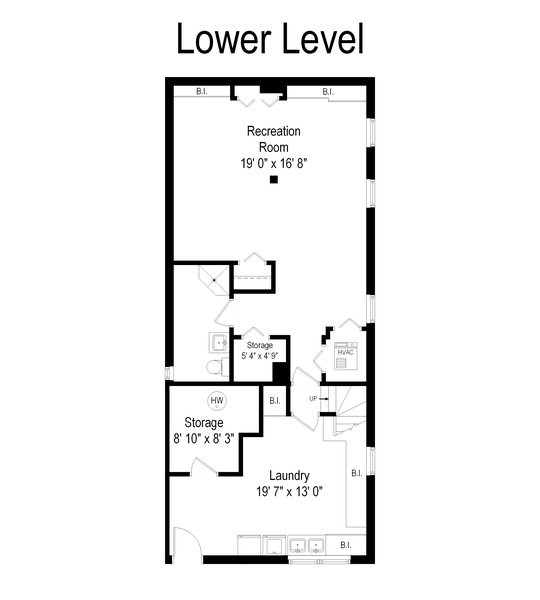 Real Estate Photography - 4220 N. Hermitage Avenue, Chicago, IL, 60613 - Floor Plan