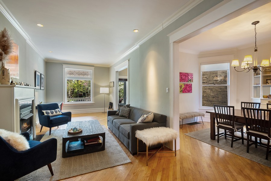 Real Estate Photography - 4220 N. Hermitage Avenue, Chicago, IL, 60613 - Living Room / Dining Room
