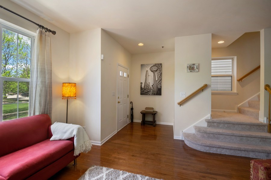 Real Estate Photography - 4655 N. Laporte Avenue, Chicago, IL, 60630 - Foyer/Living Room