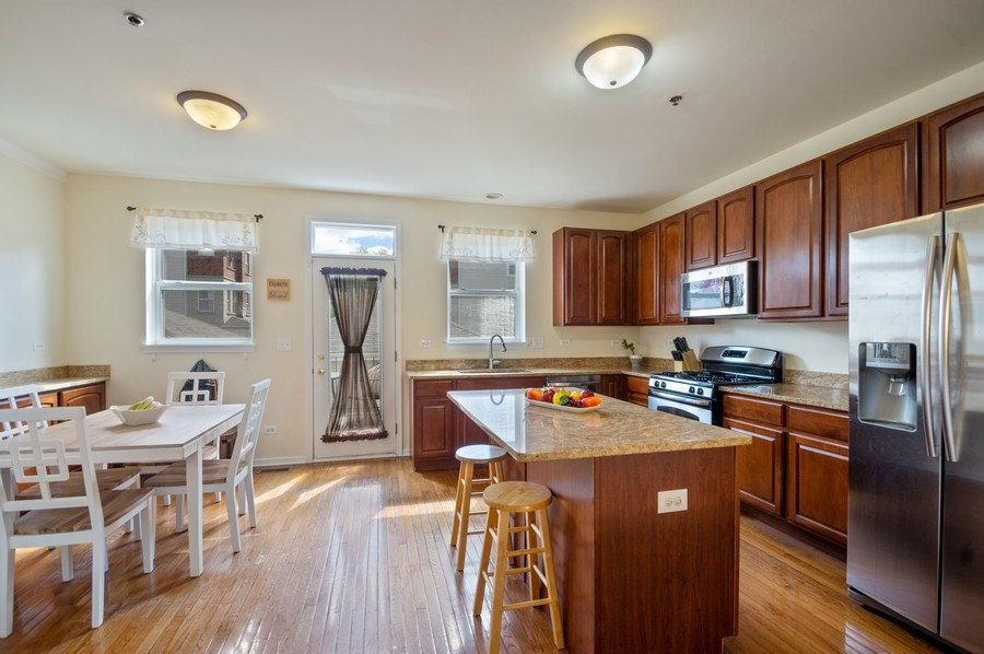 Real Estate Photography - 4655 N. Laporte Avenue, Chicago, IL, 60630 - Kitchen / Breakfast Room