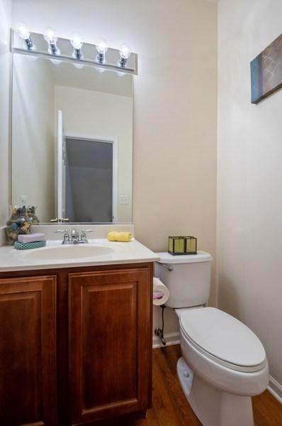 Real Estate Photography - 4655 N. Laporte Avenue, Chicago, IL, 60630 - Powder Room