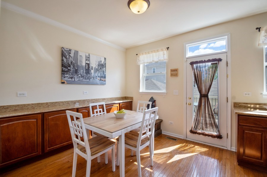 Real Estate Photography - 4655 N. Laporte Avenue, Chicago, IL, 60630 - Breakfast Nook