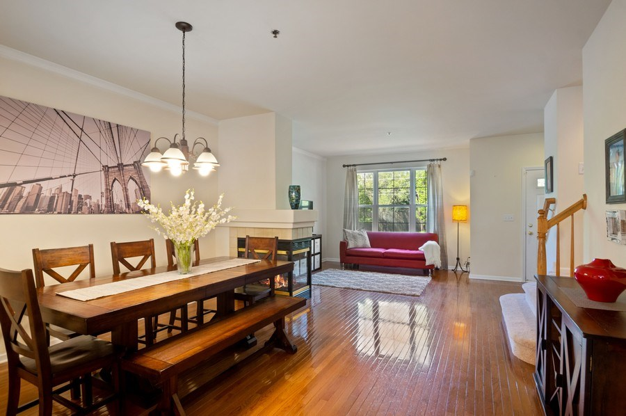 Real Estate Photography - 4655 N. Laporte Avenue, Chicago, IL, 60630 - Living Room / Dining Room