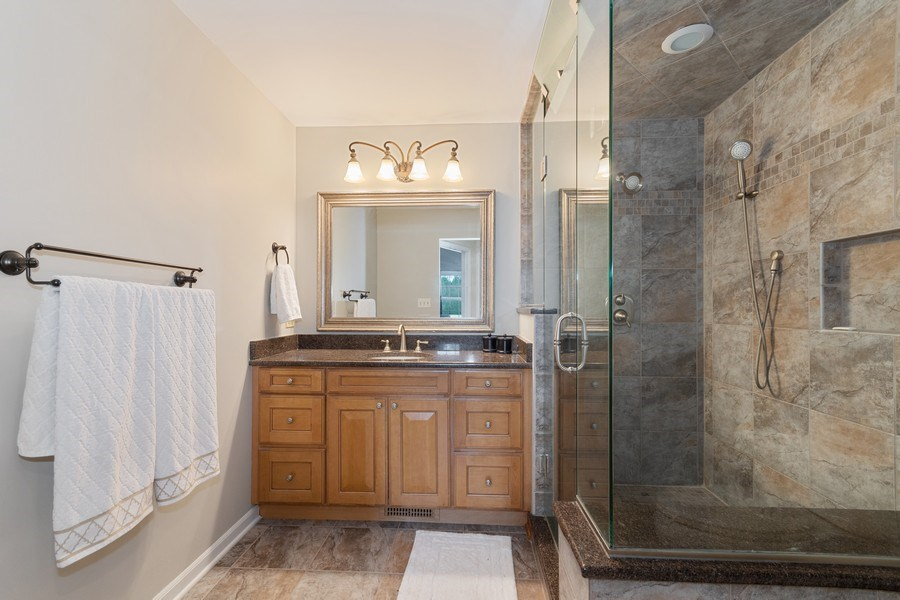 Real Estate Photography - 405 Lampwick Court, Naperville, IL, 60563 - Master Bathroom