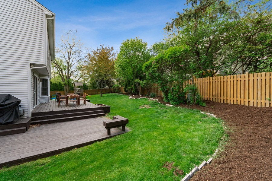 Real Estate Photography - 405 Lampwick Court, Naperville, IL, 60563 - Back Yard