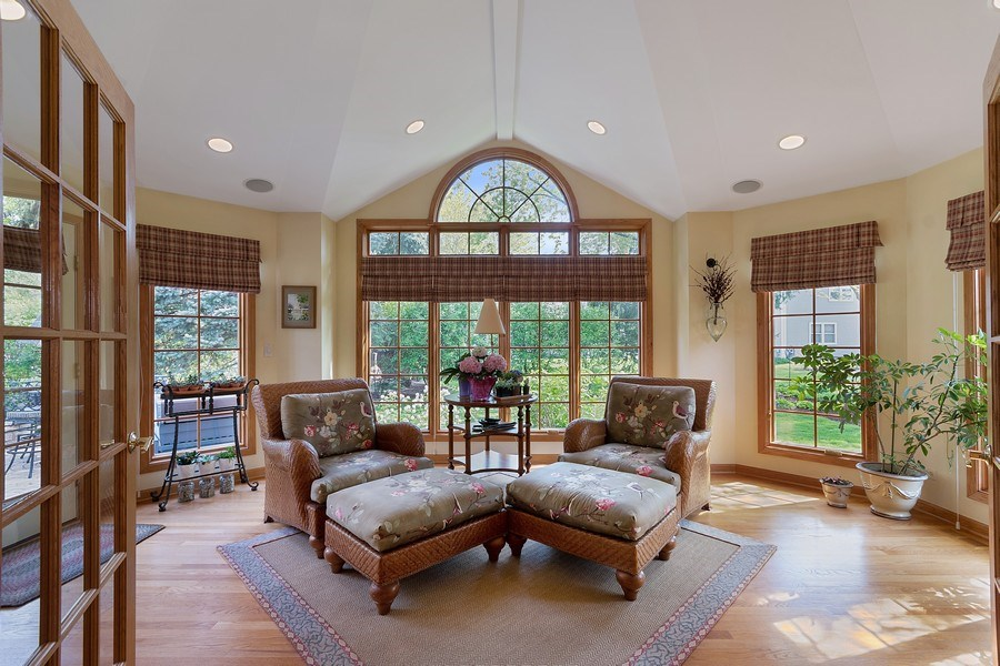 Real Estate Photography - 1549 Preston Road, Naperville, IL, 60563 - Sun Room