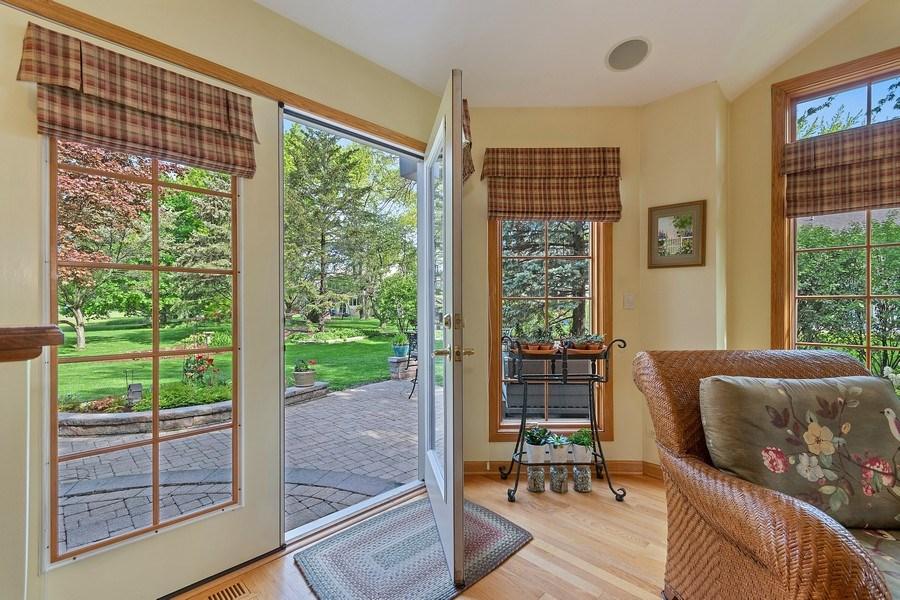Real Estate Photography - 1549 Preston Road, Naperville, IL, 60563 - Sunroom