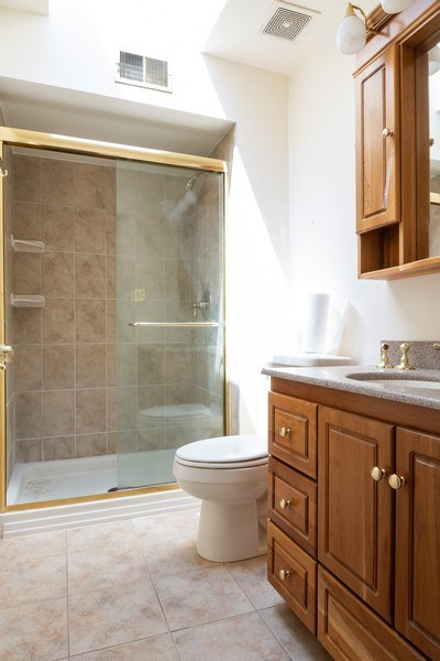 Real Estate Photography - 1731 Grove Street, Glenview, IL, 60025 - Master Bathroom