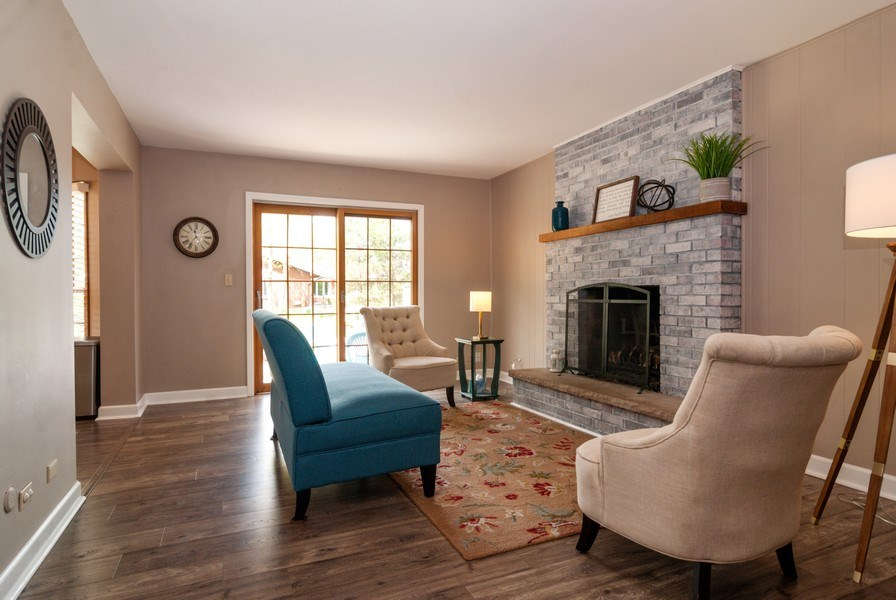 Real Estate Photography - 1030 Viking Court, Batavia, IL, 60510 - Family Room