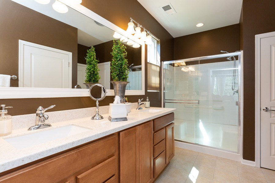 Real Estate Photography - 12382 Scarlet Drive, Huntley, IL, 60142 - Master Bathroom
