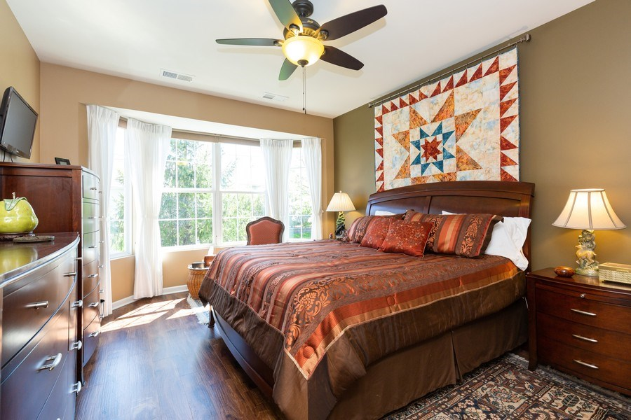 Real Estate Photography - 12382 Scarlet Drive, Huntley, IL, 60142 - Master Bedroom
