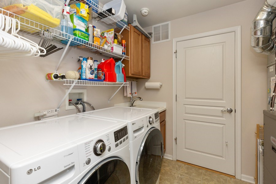 Real Estate Photography - 12382 Scarlet Drive, Huntley, IL, 60142 - Laundry Room
