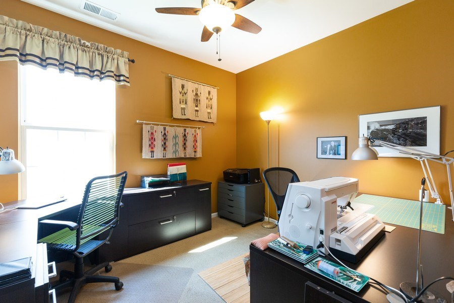 Real Estate Photography - 12382 Scarlet Drive, Huntley, IL, 60142 - Office