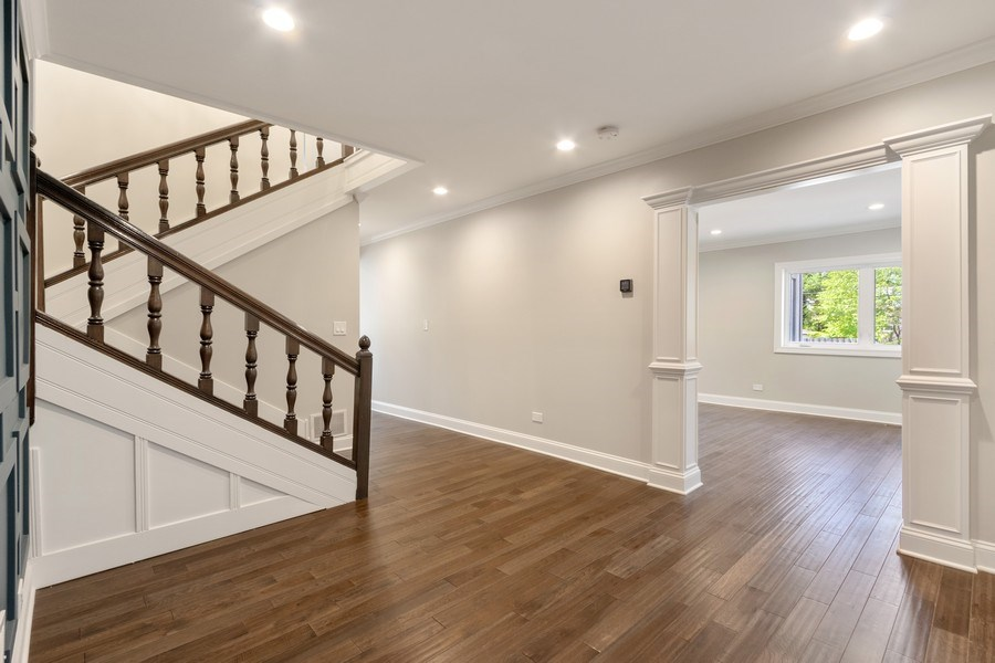 Real Estate Photography - 403 Woods Road, Des Plaines, IL, 60016 - Foyer/Living Room