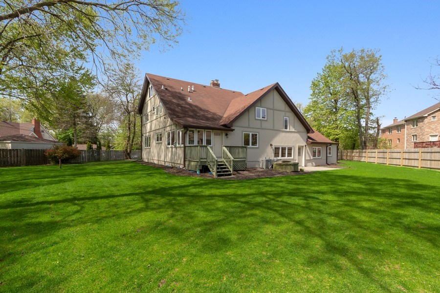 Real Estate Photography - 403 Woods Road, Des Plaines, IL, 60016 - Rear View