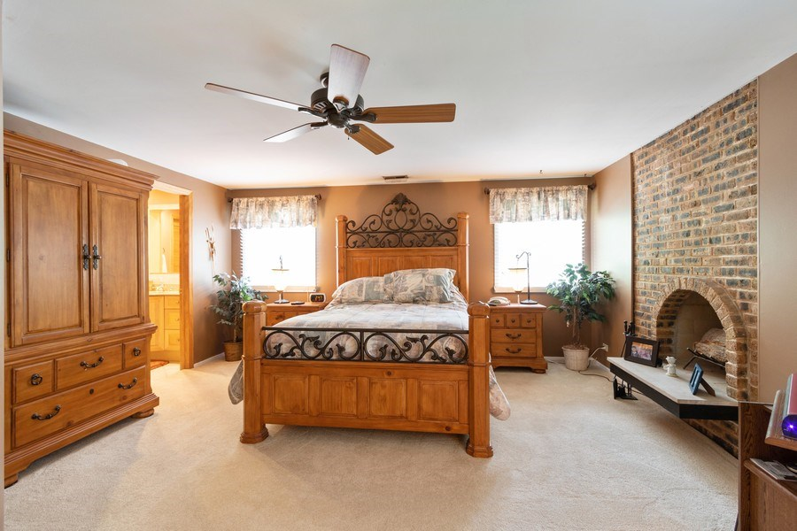 Real Estate Photography - 4218 Wilson Avenue, Rolling Meadows, IL, 60008 - Master Bedroom