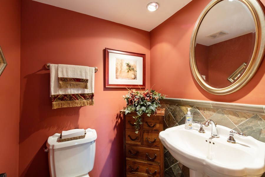 Real Estate Photography - 4218 Wilson Avenue, Rolling Meadows, IL, 60008 - Powder Room