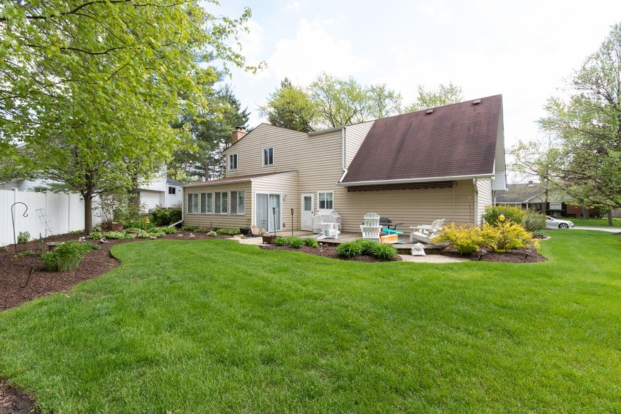 Real Estate Photography - 4218 Wilson Avenue, Rolling Meadows, IL, 60008 - Rear View