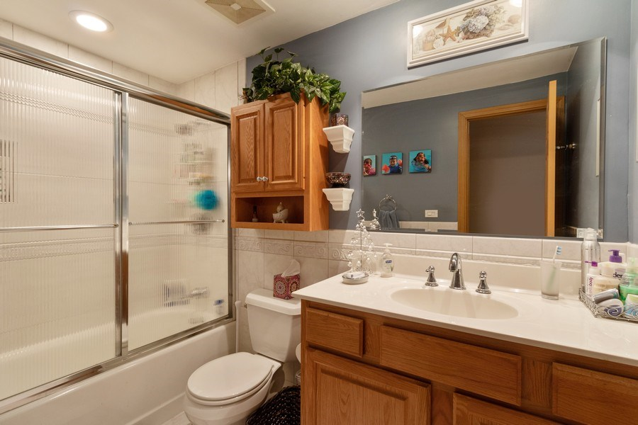 Real Estate Photography - 4218 Wilson Avenue, Rolling Meadows, IL, 60008 - 2nd Bathroom
