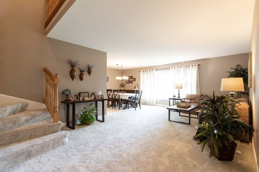 Real Estate Photography - 4218 Wilson Avenue, Rolling Meadows, IL, 60008 - Living Room / Dining Room