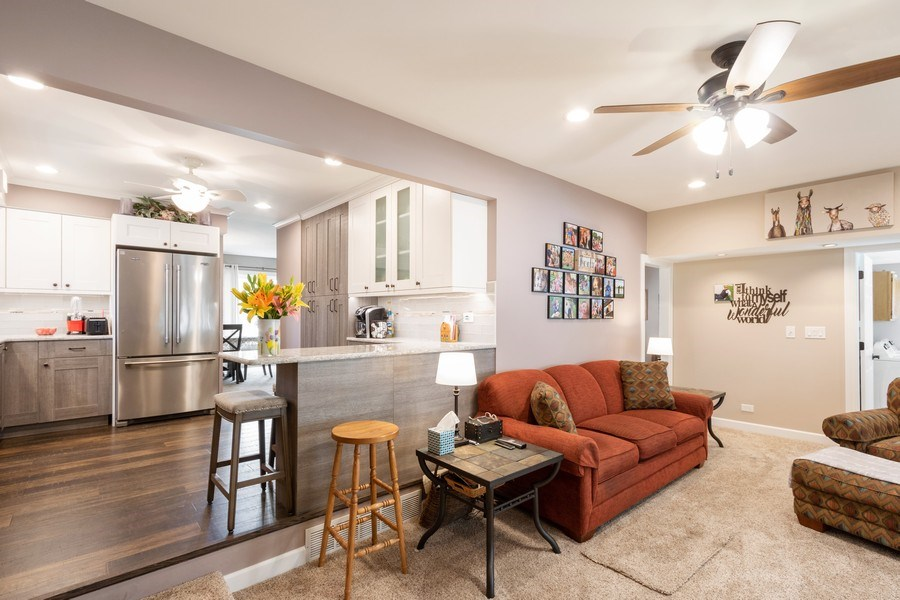 Real Estate Photography - 4218 Wilson Avenue, Rolling Meadows, IL, 60008 - Family Room / Kitchen